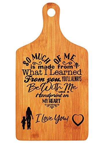 Mothers Day Gifts - LANGXUN Personalized Engraved Bamboo Cutting Board for Mothers Day Gifts, Mothers Birthday Gift, Mom and Grandma Gift, Ideal Presents for Mom]()