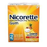 Nicorette Nicotine Gum Fruit Chill 2 milligram Stop