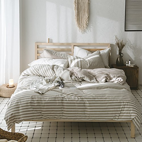 Kexinfan Quilt Cover Washed Cotton Four-Piece Set Cotton Cotton Cotton Knit Cotton Bedding Sheets Quilt, Bed, E, 1.8M (6 Feet) Bed for cheap