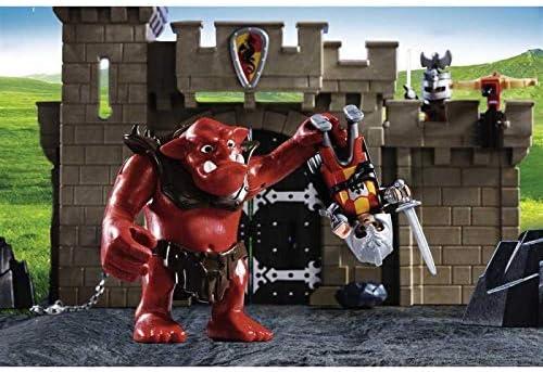 Amazon.com: Playmobil Caballeros Castillo Puerta con Troll ...
