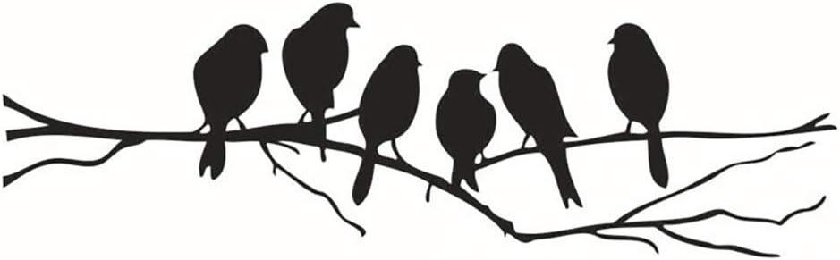 runfon Pegatina para pared de desmontable Negra Pájaro Rama Art Home Decor Pared De 100% nuevo y ultra alta calidad