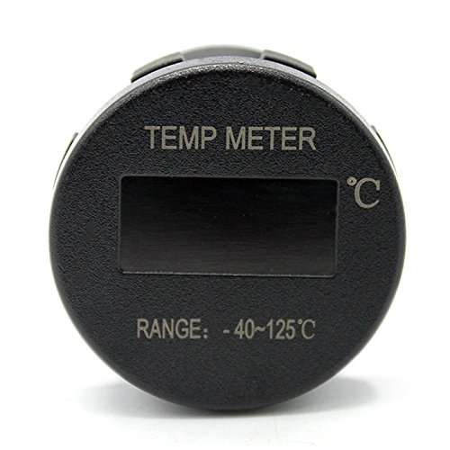 Etbotu Mini OLED DC 12V//24V Digital Thermomete OLED Schirm PC Shell 40~125 ℃ Temperatur Messger/ät Meter Zusatz Thermometer f/ür Auto Motorrad