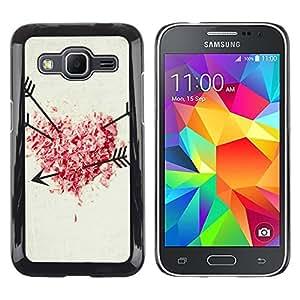 Paccase / SLIM PC / Aliminium Casa Carcasa Funda Case Cover - Love shot Heart Arrow - Samsung Galaxy Core Prime SM-G360