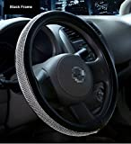 Automotive : Sino Banyan Car Leather Steering Wheel Cover Universal Breathable Anti-slip Wheel Sleeve Protector, 2018 New Bling Style