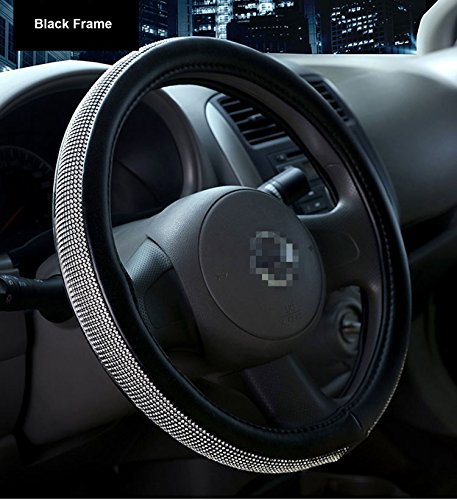 Sino Banyan Car Leather Steering Wheel Cover Universal Breathable Anti-slip Wheel Sleeve Protector, 2018 New Bling Style