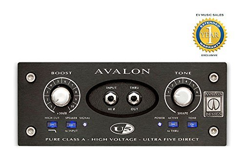 Avalon Design U5 Single-Channel Instrument DI Preamp Black with 1 Year Free Extended Warranty ()