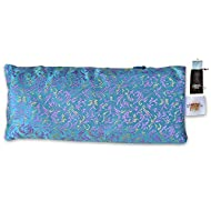 EYE PILLOW LAVENDER + Flax Seed Filled + Carry Bag. Silk Fabric - Use for Yoga, Natural Sleep Aid, Stress Relief, Anxiety Relief, Meditation, Massage Great Relaxation Gift