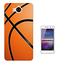 002824 - Sports Ball American Basketball Design Huawei Y6 (2017) Fashion Trend CASE Gel Rubber Silicone All Edges Protection Case Cover