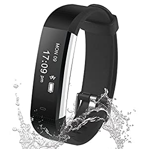 Fitness Tracker Damusy Smart Watch Bluetooth Pedometer Activity Waterproof Wristband with Sleep Monitor Sports Bracelet Calories Track Call/SMS Remind for iOS & Android Smart Phone (Black)