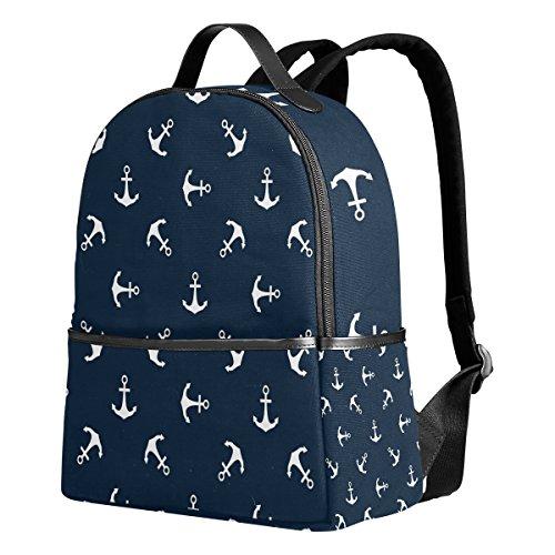 Use4 Nautical Ocean Sea Anchor Polyester Backpack School Travel Bag]()