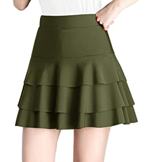 127cfad9c Sexy Army A-line Ruffled Mini-skirt in White S at Amazon Women's ...