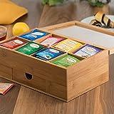 Natural Bamboo Tea Storage Box - Wooden Tea Chest
