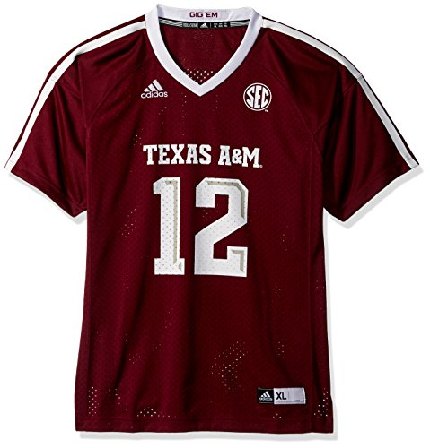 (Outerstuff NCAA Texas A&M Aggies Youth Boys Fashion Football Jersey, XL(18), Maroon)