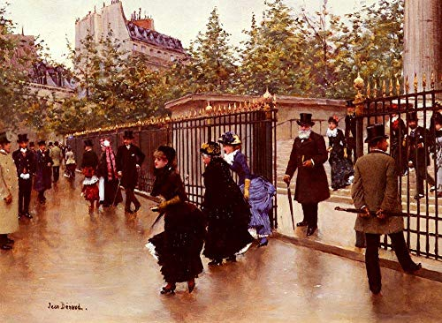 ($50-$4000 Hand Painted Art Paintings by College Teachers - Sortant De La Madeleine Jean Beraud Oil Painting Reproduction for Wall Decor Canvas Old Famous)