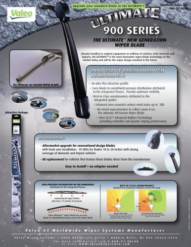 "Valeo 900161B Frameless ULTIMATE 16"" All-Season OE Replacement Wiper Blade"