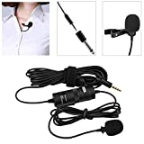 Kamisafe BOYA BY-M1 Omnidirectional Lavalier Microphone Condenser Recording Clip-on Lapel Mic Compatible with Canon Nikon DSLR Camera Camcorder iPhone Audio Recorder PC Youtube Podcast Interview Video