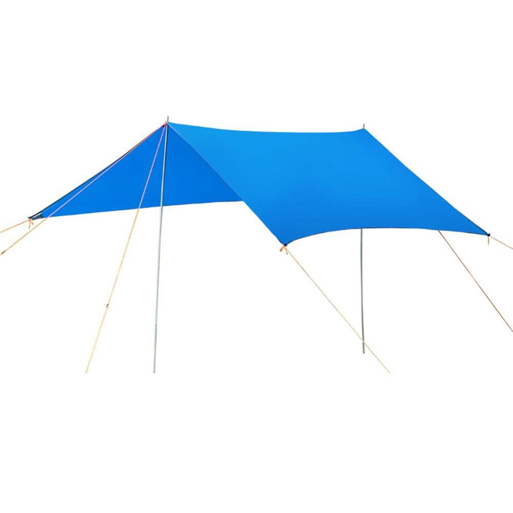 Huifang tienda QFFL zhangpeng Canopy Folding Rest Canopy Protección Solar Toldo para Lluvia Multi-Person Outdoor Leisure Arbor Protección UV Beach Account Blue Tiendas de túnel (Color : Azul)