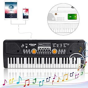Kids Piano Keyboard 49 Keys- Multi-function Portable Piano Keyboard Electronic Organ with Charging