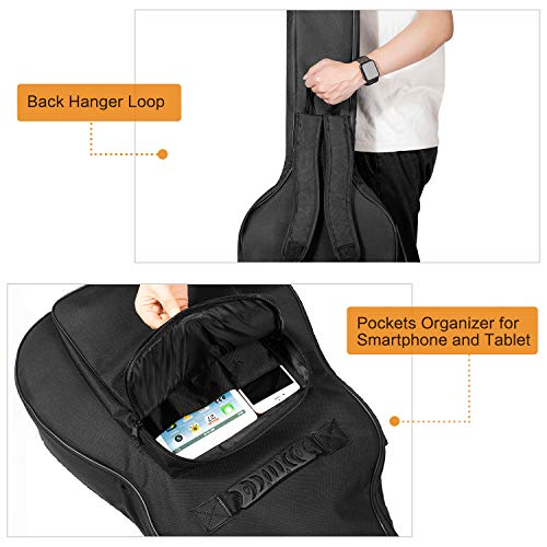 402f46948bc CAHAYA Guitar Bag [Upgraded Premium Version] for 41 42 Inch Acoustic Guitar  Gig Bag 0.5in Extra Thick Sponge Overly Padded Waterproof Guitar Case Soft  ...