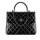 Fashion Chanel Women's Black Diamond Lattice Handbag