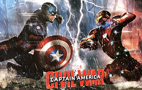captain america iron man poster - 2