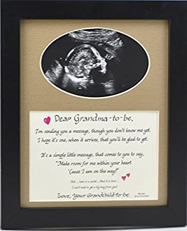Amazoncom Grandma To Be Ultrasound Picture Frame With Burlap