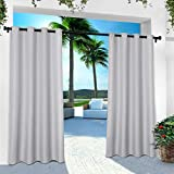 Exclusive Home Curtains In/Out Solid GT Panel Pair, 54x120, Cloud Grey