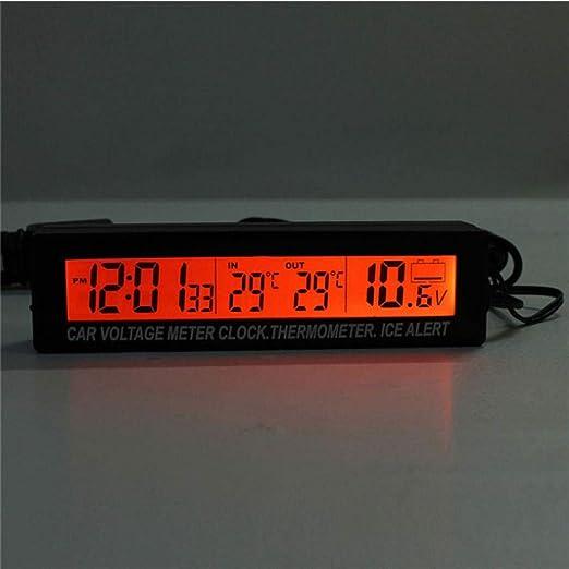 3 In1 Digital Lcd Uhr Bildschirm Auto Auto Fahrzeug Zeituhr Temperatur Thermometer Spannung Voltmeter Auto