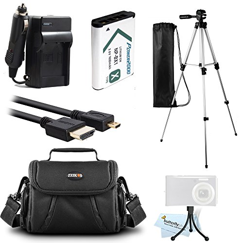 Essential Accessories Kit For Sony HDR-CX240, HDR-PJ275, HDR-CX440, HDR-CX405, HDR-PJ440, FDR-X1000V, AS200V, HDR-AS30V, HDR-AS15 Camera Includes Replacement NP-BX1 Battery + Charger + Case + Tripod + by ButterflyPhoto