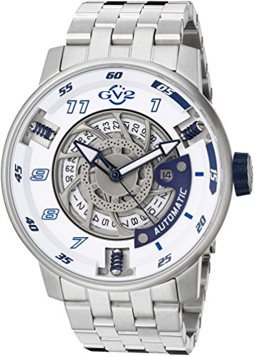 GV2-by-Gevril-Mens-Motorcycle-Sport-Automatic-Stainless-Steel-Casual-Watch-ColorSilver-Toned-Model-1301B