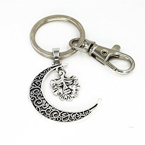 Silver Leaf Smile Necklace Theatre Masks Keychain