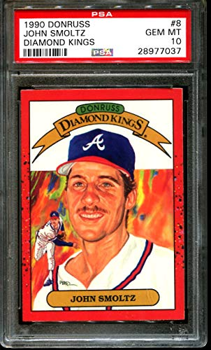 1990 DONRUSS DIAMOND KINGS #8 JOHN SMOLTZ BRAVES HOF PSA 10 - Donruss 1990 Diamond