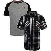 U.S. Polo Assn. Boy's Short Sleeve Button Down Shirt 2 Piece Set