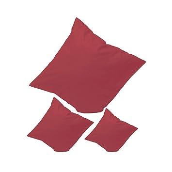hotelverschluss qool24 kath kissenbezug 100 baumwolle kissenha 1 4 lle einfarbig kissenbeza ge 18 farben und 13 graaen rot kissen nahen 50x50