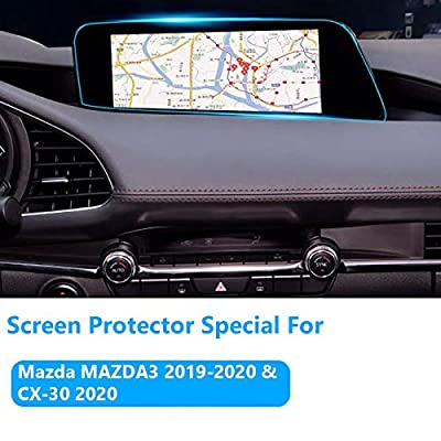 Screen Protector for Mazda MAZDA3 2020-2020 and CX-30 2020 Console Navigation, TTCR-II Tempered Glass Screen Protector, Anti-Explosion Entertainment LCD Screen Protector Foil: Automotive