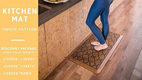 Licloud Anti-fatigue Mat Non-toxic Kitchen Floor Mat Comfort Mat Desk Mat (24x70x3/4-Inch, Antique Light) by Licloud (Image #5)