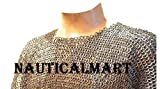 Full Flat Riveted Chain Mail Shirt Large Size Medieval Chainmail Haubergeon