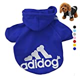 #1: AStorePlus Adidog Pet Dog Clothes Cat Puppy Hodies Coat Winter Sweatshirt Warm Sweater Jacket Clothing, Royal Blue M