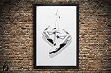 Air Jordan 4 'Black Cement', 'White Cement', 'Military Blue', 'Fire Red' Illustration, Vintage Hanging Kicks - Sneaker Wall Art - 11' x 14', 12' x 18', 13' x 19', 18' x 24', 24' x 36'
