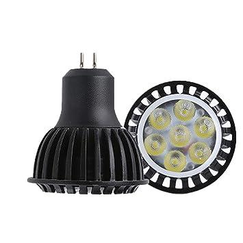 DarweirlueD G5.3/Gu10 - Bombilla LED de aleación de Aluminio (5/7 W), Aleación de Aluminio, Black G5.3, 7W#: Amazon.es: Hogar