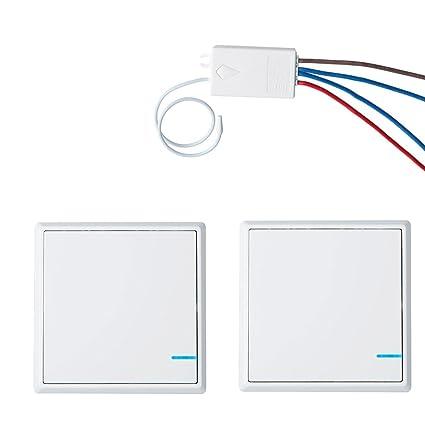 NineLeaf 2 Pack Light Wireless Remote Control 110V One-way Lamp ...