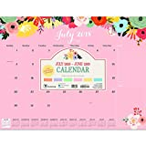 Floral Desk Pad Blotter 2019 Calendar: July 2018 - June 2019 (Academic Year)