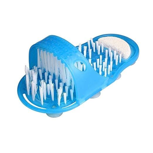 Househome Cuarto de baño pies HF8400 Pantuflas, la Original Ducha Sandalia pie Cepillo pie Cepillo Lavadora masajeador Arandelas pie Limpieza Cepillo ...
