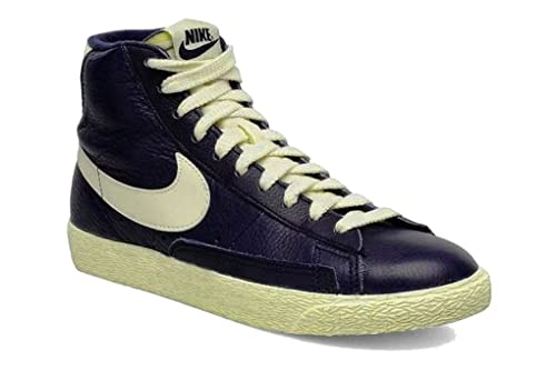 cheap for discount 49f96 1692a NIKE Blazer Vintage Womens Leather Upper Mid Boots in Navy Blue - 3 UK   Amazon.co.uk  Shoes   Bags