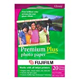 FUJI Premium Plus Paper 8.5 x 11 Inches, 3 Pack of 20 Sheets -NR (441048-60PK), Office Central