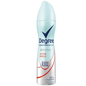 Degree Deodorant 3.8 Ounce Womens Dry Spray Active Shield (113ml) (2 Pack)