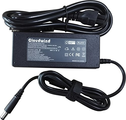 Cloudwind 19.5V 4.62A 90 Watt Replacement AC Adapter,Power Cord Supply for Dell Inspiron 1750 1750N 15R 17RN 17RV Dell Vostro 3500 3500n 3550 3550n 3555 3560 3700 3700n 3750 A840 A860 A860n Series. Inspiron 3700 Ac Adapter