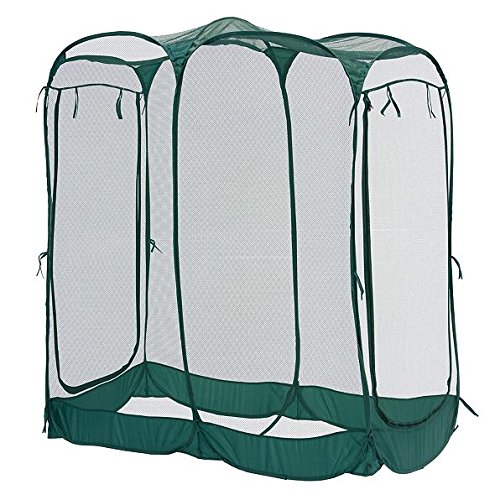 DermaPAD Pop Up Bird Net with Door - 3' x 6' x 6' by DermaPAD