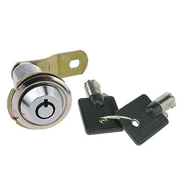 PrimeMatik - Cerradura de Leva de 37mm x M18 con Llave Tubular: Amazon.es: Electrónica