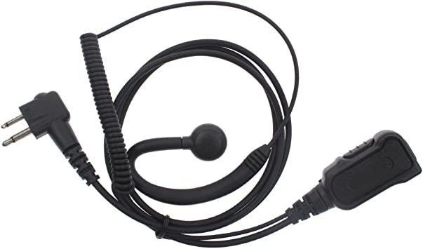 Guard 2-Wire Earphone for Motorola VL50 PMR446 PR400 with Extra Coil